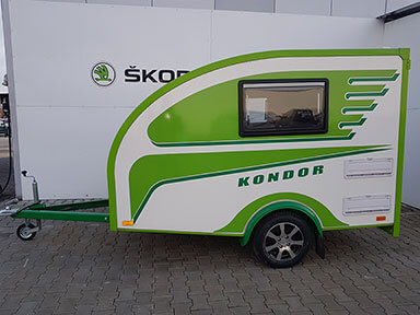 Aluminiumräder - KONDOR small caravan -  mini caravan for 2 people