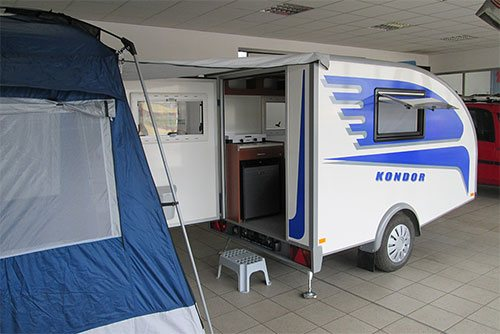 KONDOR small caravan -  mini caravan for 2 people